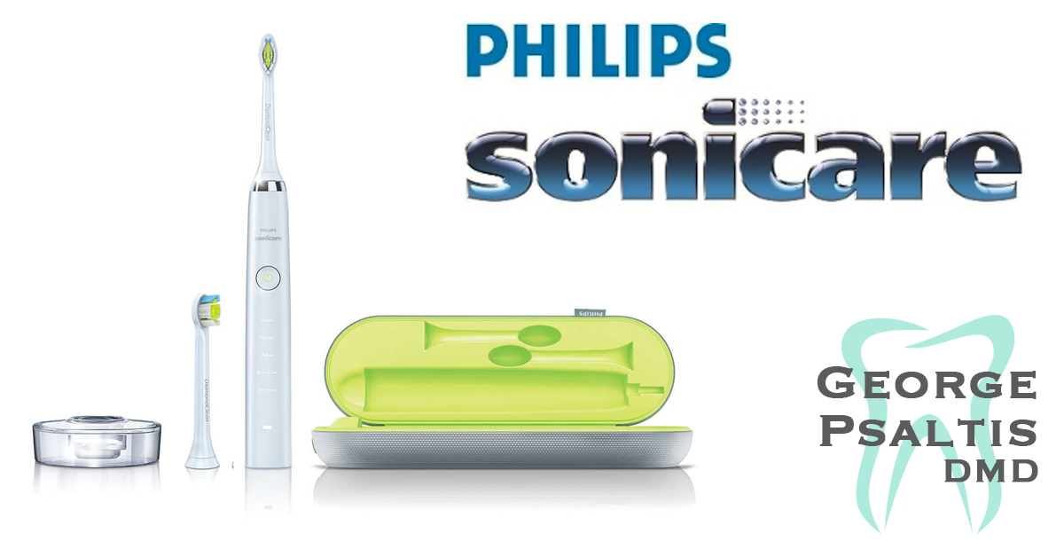 Dr George Psaltis now carries the Phillips Sonicare DiamondClean electric brush